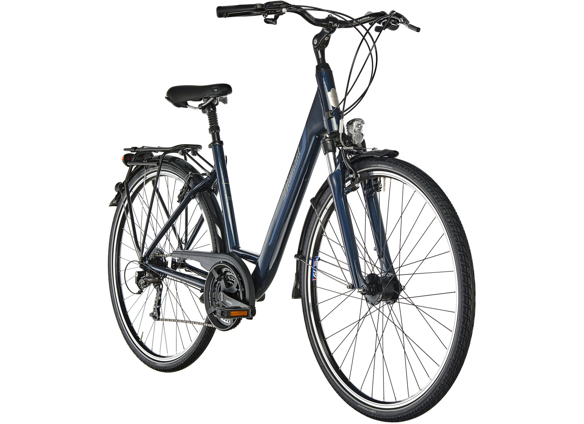 Diamant Ubari Komfort T Touring Bike Easy Entry blue at